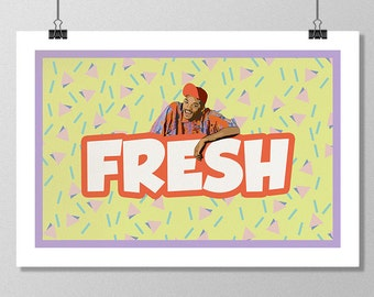 "THE FRESH PRINCE of Bel-Air Inspired Minimalist Poster Print - 13""x19"" (33x48 cm)"