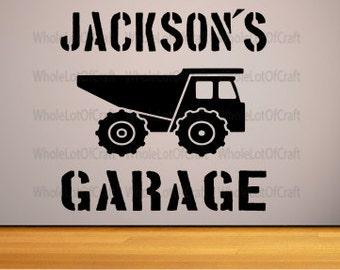 Boys dump truck bedroom decor, dump truck wall decal, boys truck bedroom decor, boys bedroom, trucks