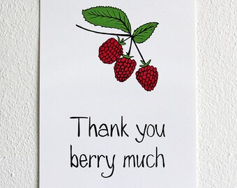 Thank you berry much | Postcard | Illustration