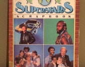 "Vintage 1984 ""TV SuperStars Scrapbook"" by S. Otfinoski and R. Lackmann. A Weekly Reader Book with contents: 1) The A-Team 2) The Facts of Li"