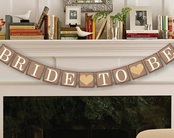 Bride-To-Be Banner - Bridal Shower Decor - Bachelorette Party - Wedding Banners
