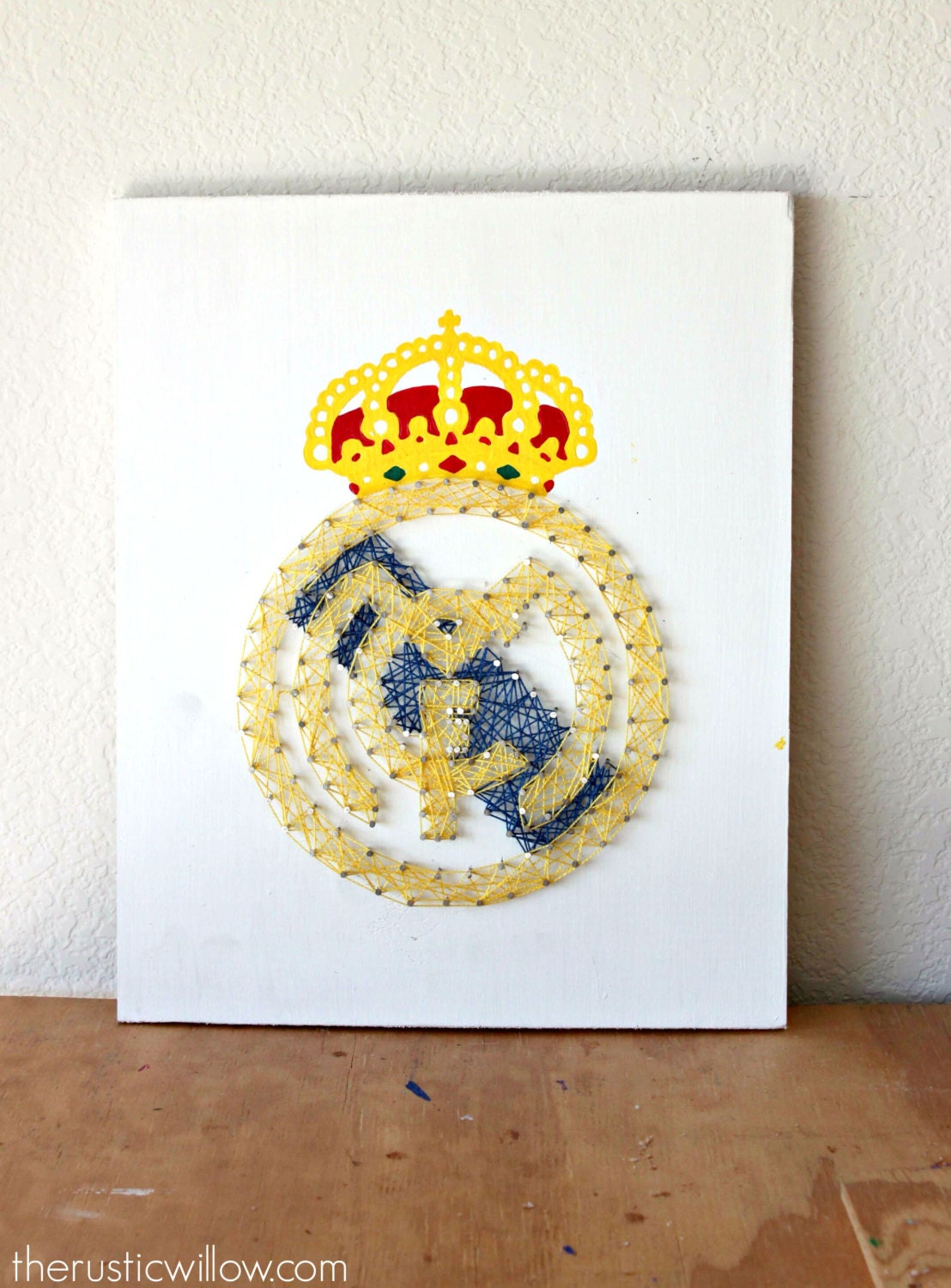 Real madrid string art real madrid party soccer decor - Real madrid decorations ...