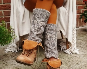 Knitted Leg warmers .Boot cuffs. Winter accessory.