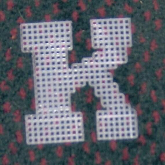 4 Inch Pre Cut Plastic Canvas Letters K