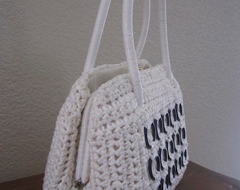 Vintage Raffia Handbag Made In Italy for 'The Broadway' - Cute!!