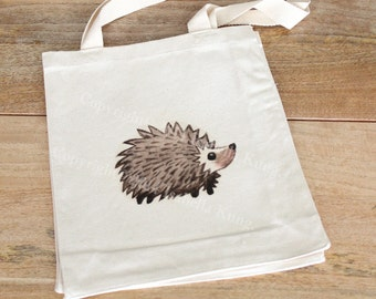 Hedgehog Tote Bag with Gusset