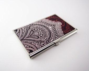 Vintage Brown Pattern - Card Holder, Business Card Case, Credit Card Case