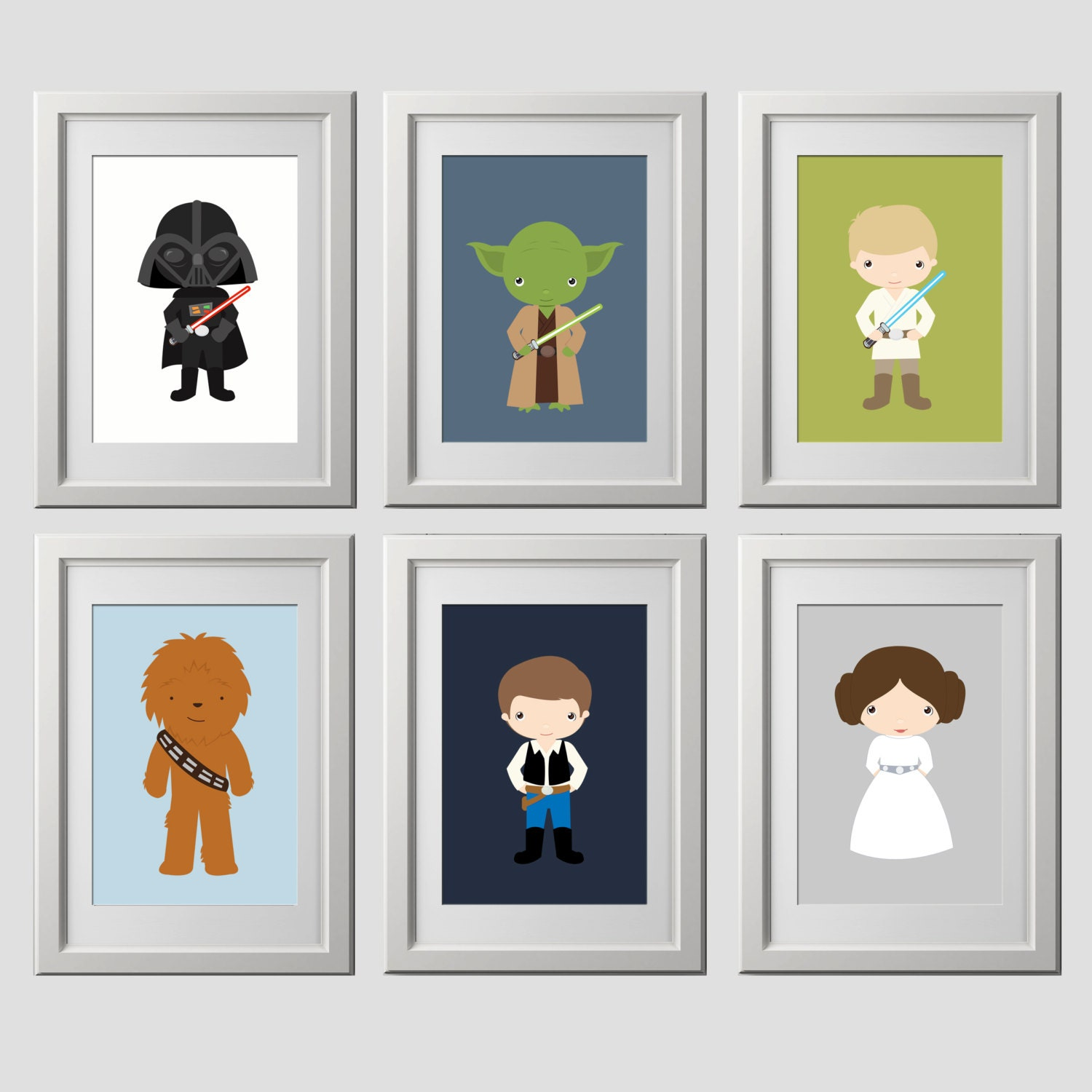 star wars nursery wall decor CUSTOM COLORS starwars wall