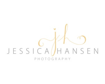 Premade Photography Logo - yellow Photography Logo - modern Photography Logo - initials Logo Design, Logos 1028