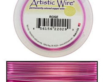 Artistic Wire SP Rose Color 20ga - 25 Foot Spool  (WR35220)