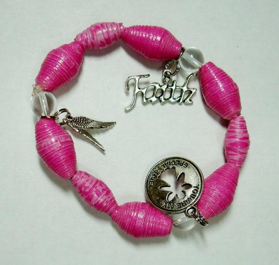 Handmade Paper Bead Bracelet Jewelry by ThePaperBeadBoutique