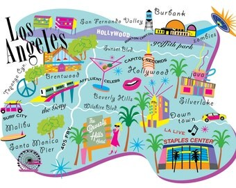 Love Awesome Los Angeles Map!