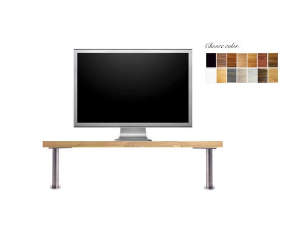 Tall wood monitor stand tv riser choose by