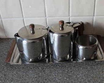 Retro Stainless Steel Tea Coffee Set