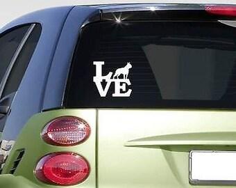 "Boston Terrier Love 6"" Sticker *F204* Decal Bully Bulldog Bostonterrier"