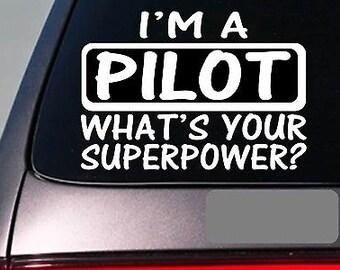 I'M A Pilot Sticker Decal *E138* Plane Flight Fly Airplane Jet Passenger