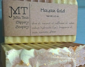 Mayan Gold vegan handcrafted soap