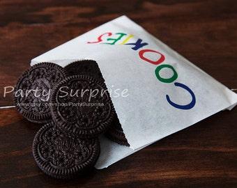 Sale! Cookie Bags, Kids cookie bags, Bakery bags, Treat bags, Wax bags, Food bags,