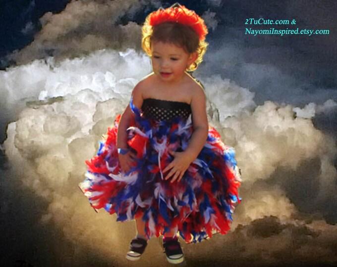 Patriotic Feather Tutu Dress