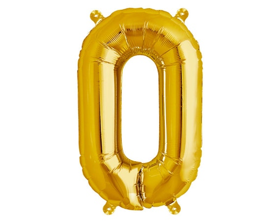 O gold letter balloon 34 mylar foil alphabet for Large foil letter balloons