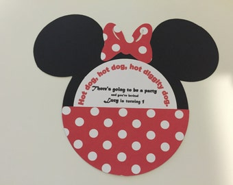 MINNIE MOUSE BIRTHDAY Party Invitations (12)