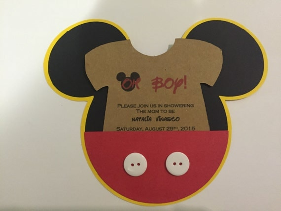 mickey mouse baby inspired shower invitations 12