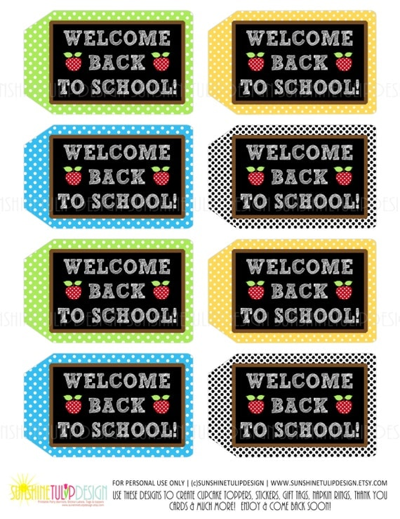 Teacher Appreciation Welcome Back To School Gift Tags By