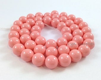 10mm 5810 PINK CORAL 10pcs Swarovski Crystal Round Pearls