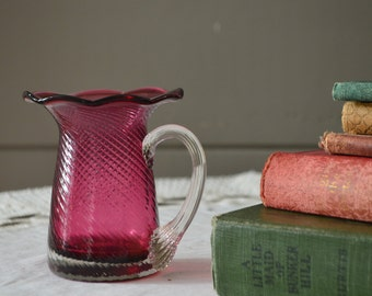 Cranberry cup or vase Beautiful