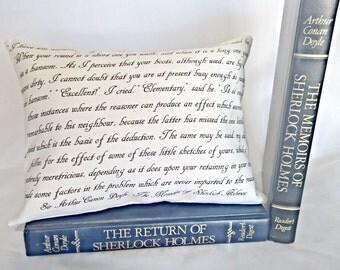Sherlock Holmes Pillow, Sir Arthur Canon Doyle