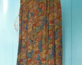 Evan Picone Floral Vintage Skirt Sz 14