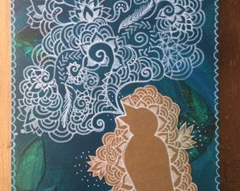 Zen Song - Original Mixed Media Art Piece