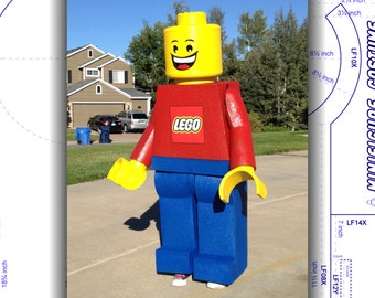 Tutorial: LEGO Costume Minifigure. DIY patterns and instructions PDF. Easily build a highly accurate and durable replica. Instant download!
