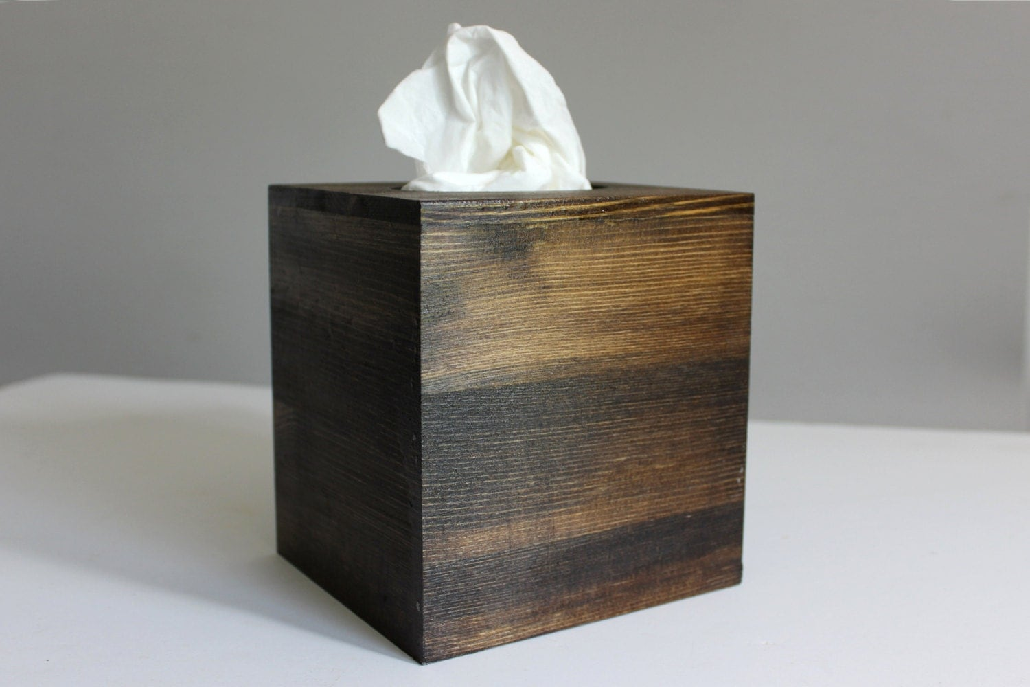 Hand Stained Wood Tissue Box Cover Boutique By