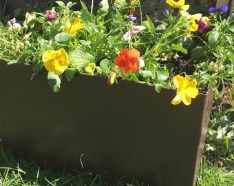 Contemporary Metal Planter, Composter, 600mm x 240mm x 240mm or made to order