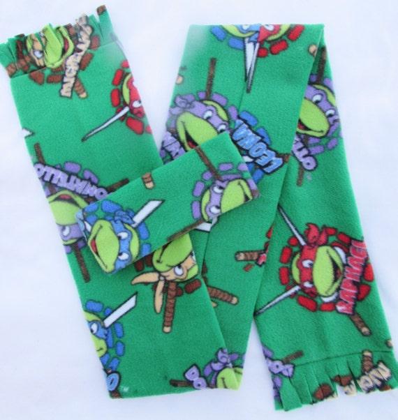 Mutant Ninja Turtle fleece headband and scarf set size toddler and school age