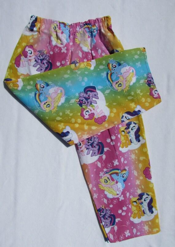 My Little Pony pajama cotton pants/ girls pajamas / MLP pajamas / toddler pajamas / lightweight pajamas