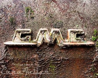 Rusty Vintage GMC Emblem Photograph