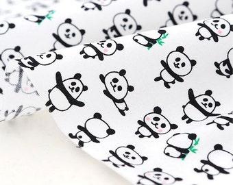 Cotton Fabric Mini Panda By The Yard