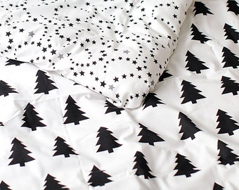 Cotton Fabric Black Tree By The Yard
