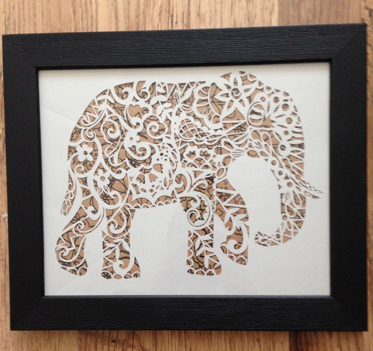 Wall Decoration By Paper Cutting : Elephant papercut template cut your own safari art