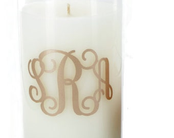 Monogrammed tall Candle