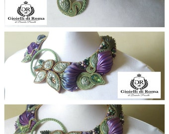 Collar with silk shibory