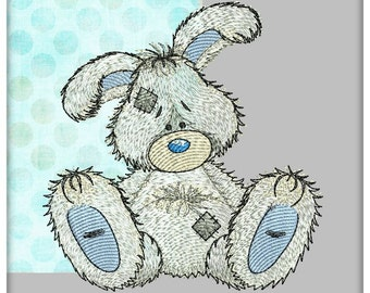 """Bunny - machine embroidery design for Baby and Children of a series of """"Old Toy"""""""