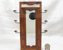 """Miniature 1:12 Scale The """"Adalicia Store"""" Mirror Unit [Finished in walnut] For Doll House"""
