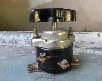 Vintage Industrial Switch,electrical switch, Soviet switch USSR era 1980s