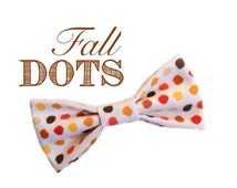 Fall polka dots, fall bow tie, seasonal bow tie, kids accessories, polka dot bow tie, fall accessories [FALL DOTS]