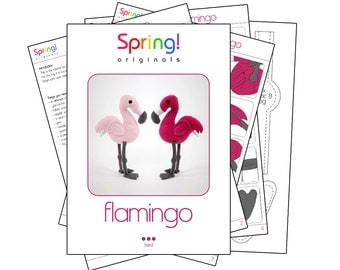 Flamingo pattern and manual (English, A4 and Letter)