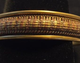 Vintage Handmade Native American Bronze/Copper Bracelet