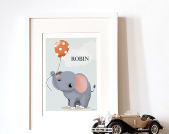 Personalized poster - the elephant and the balloon